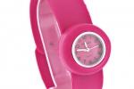 Junior Slap Watch in Dark Pink